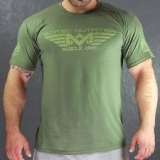 Scitec Tričko Muscle Army Green
