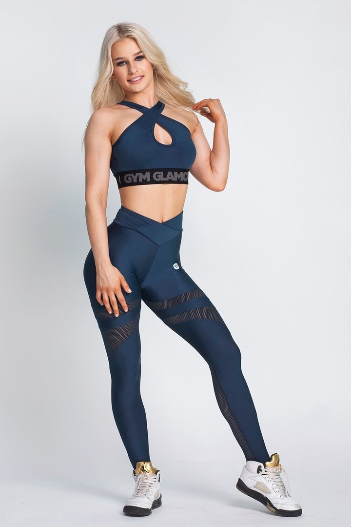 Gym Glamour legíny High Waist Midnight Navy, L