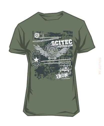 Scitec Tričko Made of Iron Green, M