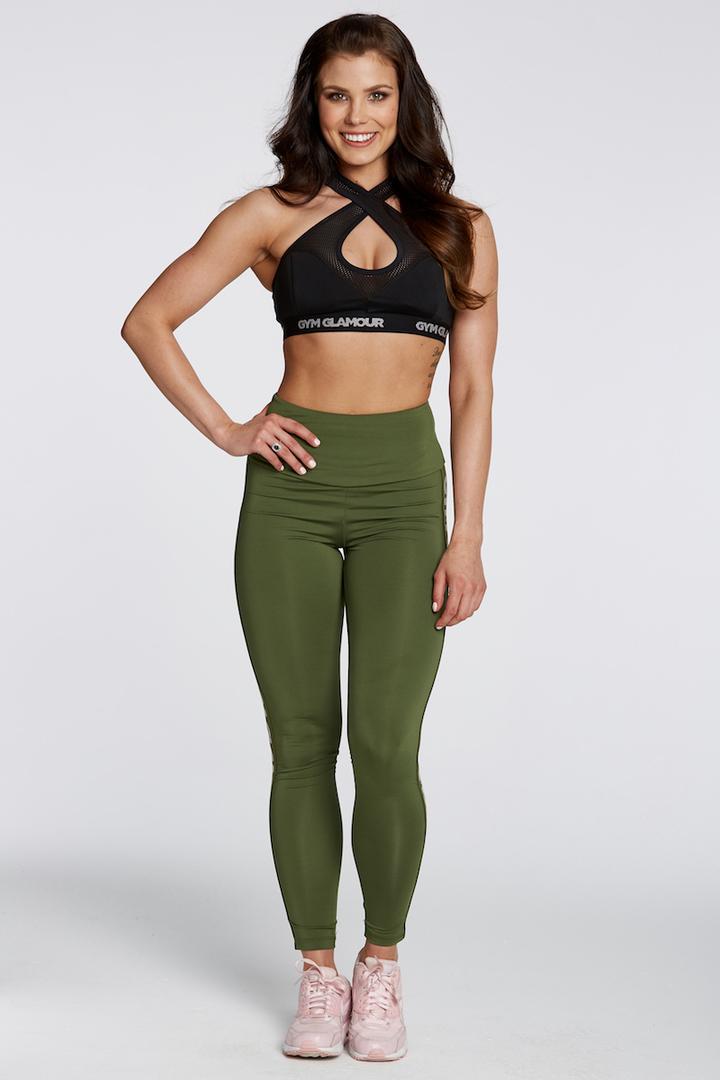 4d498b5fc Fitness oblečenie | Gym Glamour legíny High Waist Khaki | Všetko pre ...