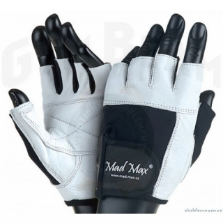 MadMax Rukavice PROFESSIONAL white/black, M